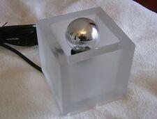 "Seltene KALMAR Eisglas Kubus Würfel Tischlampe ""KEMA KEUR"" frosted vintage lamp"