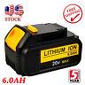 20 Volt For DEWALT DCB200 DCB204-2 20V Max XR 6.0Ah Lithium-Ion Battery DCB206-2