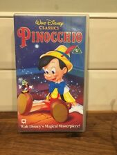 *Vintage Walt Disney Classics Pinocchio VHS Tape, U Rated, 2003, Good Cond