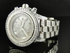 Custom Mens XL Breitling Super Avenger Aeromarine 52 MM Diamond Watch 22 Ct