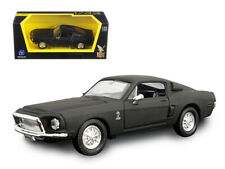 1968 Ford Shelby Mustang GT 500 KR Matt Black 1/43 Diecast Car by Road Signature