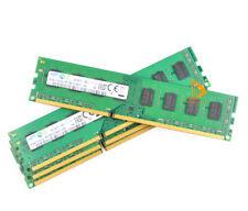 32GB Samsung 4x 8GB PC3 12800U 2RX8 DDR3 1600MHz CL11 Memory RAM DIMM Desktop @d