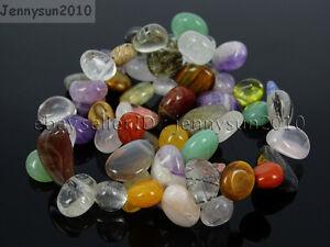 Natural Gemstones Freeform Flat Teardrop Drop Barpque Beads 16'' Jewelry Crafts