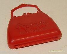 SAC à MAIN de POUPEE vintage 60' 70' - En pur plastique rouge Made in ENGLAND