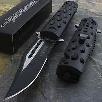 "8.5"" SPRING ASSISTED TACTICAL FOLDING RESCUE POCKET KNIFE Blade Open Assist EDC"