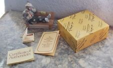 Vintage Flambro Emmett Kelly Jr. Miniature Clown Figurine Wet Paint Bench Nib
