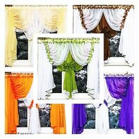 (10,20€/m) CURTAIN Voile 153 1/2in/59 1/8in Panels