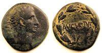 Imperio Romano-Augusto. AS. 27 a.C-14 d.C. Antioquia. Cobre 10,7 g. ESCASA