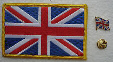 United Kingdom National Flag Pin and Patch Embroidery