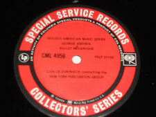 HENRY BRANT GEORGE ANTHEIL Surinach NY Percussion Chamber Ensemble Collectors