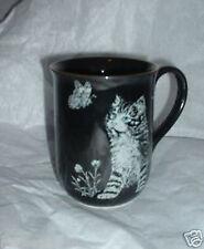 Vintage Otagiri Cat w Butterfly Mug   Japan Kitty Kat