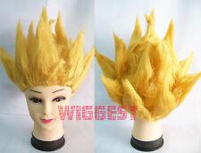 Dragon Ball Son Goku Cosplay Wig Dragonball Z Golden Hair for Halloween & Party