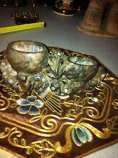 Beautiful Hand Carved Double Vase Soap Stone Brush Pot