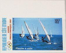 IVORY COAST ELFENBEINKÜSTE 1987 951 U C111 per Olympic Year Wind Surfing MNH