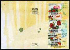 Finland FDC 2009 With Greetings Flowers Booklet Mint