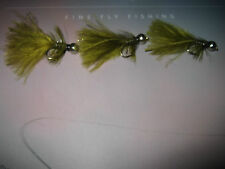 3 V Fly Size 6 Ultimate Rio Grande RV Super Olive FT Diamond Sea Trout Flies
