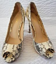 Coach Selma Python Snake Skin Peep Toe Shoes Size 6 1/2 B