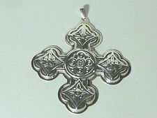 1971 REED & BARTON STERLING SILVER CHRISTMAS CROSS ORNAMENT