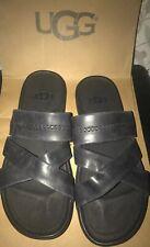 New Ugg Mens Slip On Sandals Morris Size 9 Black