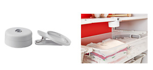 IKEA STOTTA LED Spotlight wirh Clamp Lamp White Battery Operated Touch Operated
