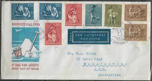 "Netherlands 1954 FDI ""Kinderzegels"" Cancelled to Johannebsurg CDS Dated 15/11/54"