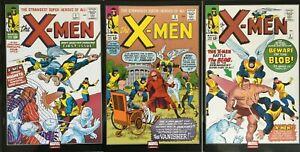(2017) Foreign X-MEN #1 2 3 Marvel Mexico Foil Cover Set! Marvel Clasicos! XMEN!