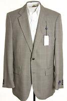 NWT Alan Flusser Mens 42L Houndstooth Polyester Silk Sports Coat Blazer Jacket