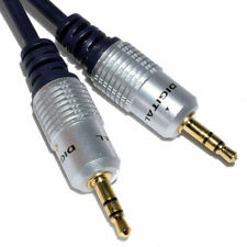 5m Pure OFC Shield 3.5mm Stereo Jack Male to Male Aux Audio Plug PC Car Cable