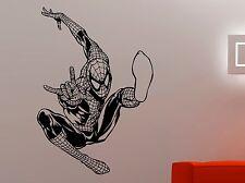 Spiderman Vinyl Decal Marvel Comics Superhero Wall Sticker Art Bedroom Decor 1ec