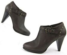 J.Crew Studded Booties Platform Ankle Boots Espresso Brown Sz 10 Made In Italy