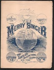 The Merry Singer 1891 Singer Sewing Machine Advertisement Sheet Music