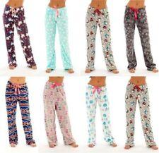 FOREVER DREAMING Ladies Womens Pyjama Bottoms PJ Printed Fleece Comfy Soft