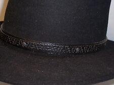 Black Hat Band Western Cowboy Millinery Supplies [#3L]