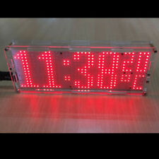 DIY Kit Red LED Dot Matrix Clock SMD Kit C51MCU With Shell Temperature Control