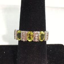 1.26 CTW Genuine Tourmaline & .25 CWT Diamond 10KT White Gold Ring Size 8 NEW