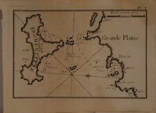 CARTE MARINE XVIII° SIECLE JOSEPH ROUX 1764 FORMANTERA BALEARES ESPAGNE