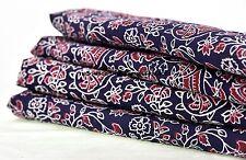 Ajrakh Hand Block Printed Fabric Ethnic Floral 5 Yard Fabric Indian Handmade