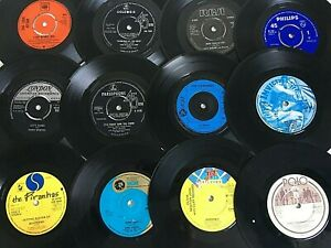 """Job lot of 40 x 7"""" vinyl records for UPCYCLING/CRAFT/ARTWORK"""