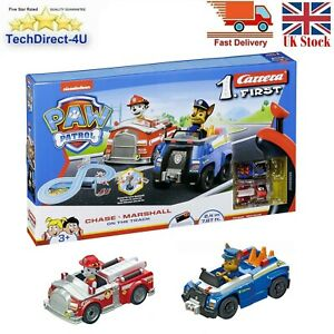 Nickelodeon Carrera First Paw Patrol Chase vs Marshall On The Track Race Car Set