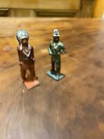 2x Vintage Indian Toy Figures Britain/Hill