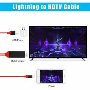 Câble Adaptateur TV HDMI pour iPhone, Compatible 11/11 Pro/XS/XS Max/XR/X/8/7/6