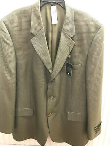 Taso Elba Sports Coat - NWT - Orig Ret $395 - Taupe Houndstooth - 48 Long