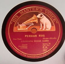 "LOUISIANA SUGAR BABES ""Persian Rug"" on HMV EA397 + Jabbo Smith & James P."