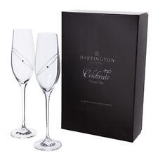 Dartington Crystal Glitz 'Celebrate' Flute Glasses (Clear) (2 Glasses)