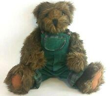 Etta Foran Signed 1996 Teddy Bear #29802 Ashton Drake Galleries Green Overalls