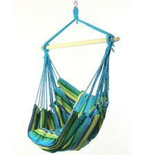 Hanging Hammock Chair Swing with 2 Seat Cushions in Ocean Breeze