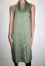TARGET Brand Women's Khaki Side Split Sleeveless Shirt Top Size 8 BNWT #TM101