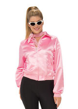Womens Plus Size Grease Pink Ladies Satin Jacket Adult Plus Size
