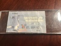 MLB 2004 Boston Red Sox vs St Louis Cardinals World Series Game 4 Ticket Stub