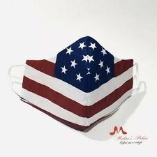 Vintage-Inspired American Flag Patriotic Reversible Reusable Fabric Face Masks